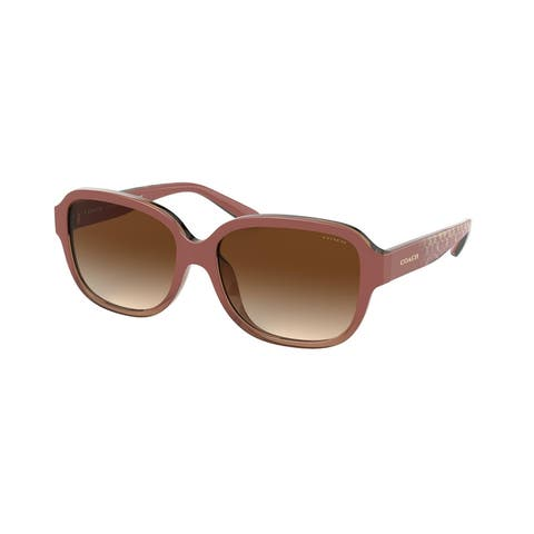 Coach HC8298U 562113 57 Transparent Brown Woman Rectangle Sunglasses