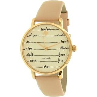 Kate Spade Women's Metro KSW1059 Gold Leather Quartz Fashion Watch
