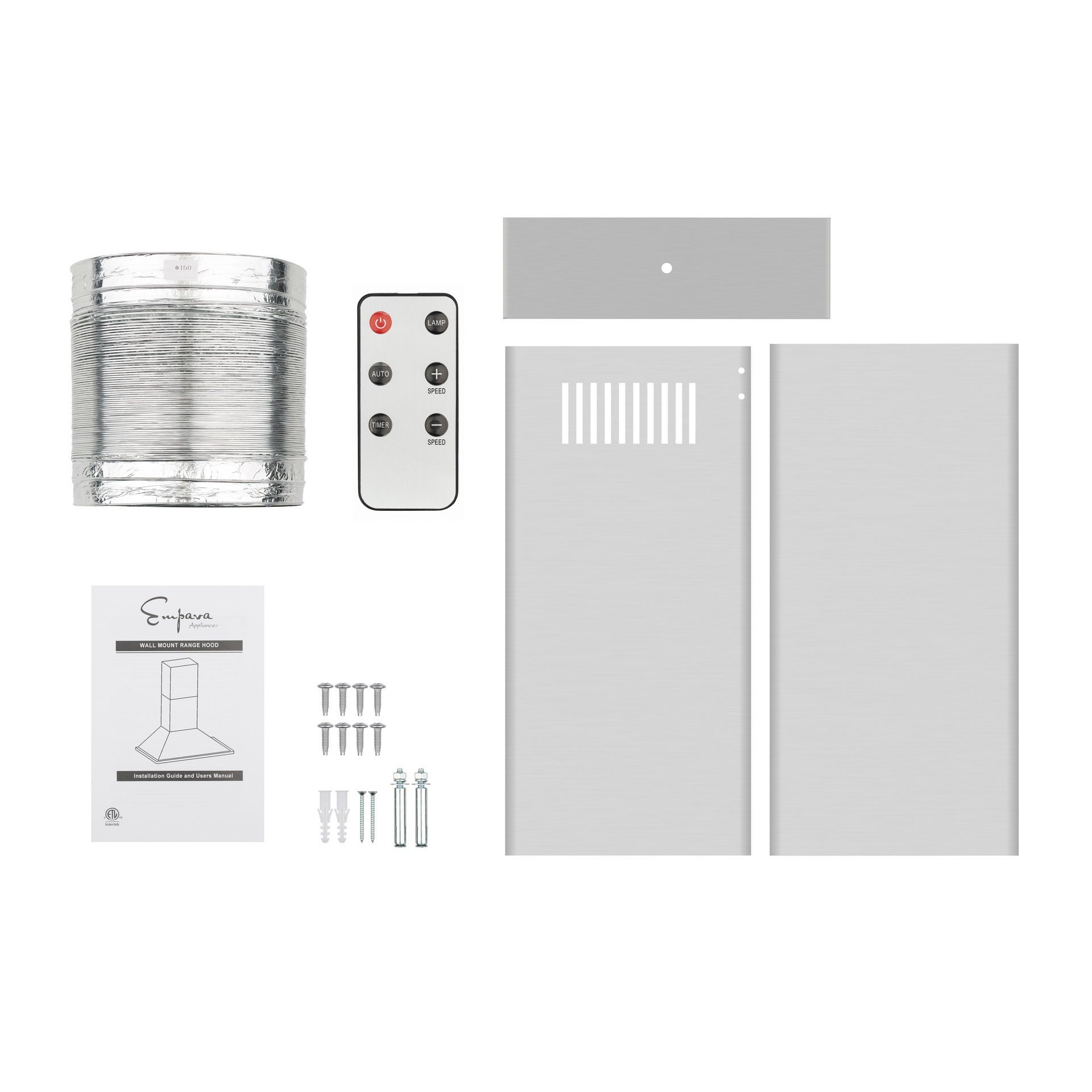 Range Hoods Appliances Empava 30 in silver 380 CFM Wall Mount ...