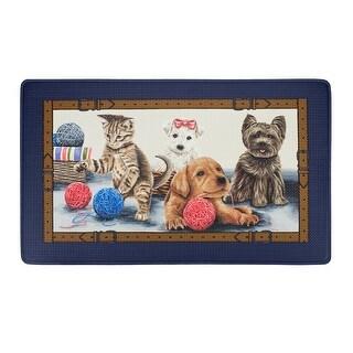 Precious Decorative Anti-Fatigue Mat, Navy Blue, 18x30 Inches
