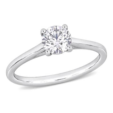 Miadora 3/4ct TDW Certified Diamond Solitaire Engagement Ring in Platinum (GIA)
