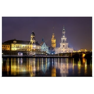 """""""Dresden by Night"""" Poster Print"""