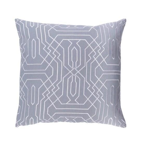 "18"" Storm Gray and Snow White Chevron Decorative Throw Pillow - Down Filler"