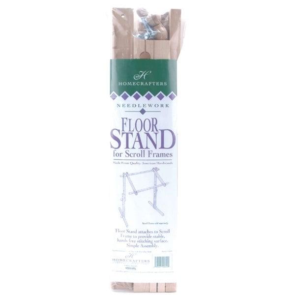 Deluxe Hardwood Scroll Frame Floor Stand-