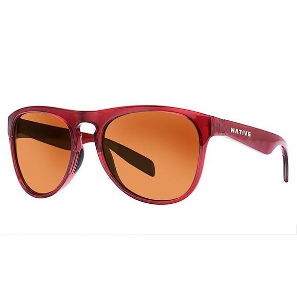 38728aa0aa8 Shop Native Eyewear Sunglasses Sanitas Crimson Frame Brown Polarized Lens -  Free Shipping Today - Overstock.com - 15342453