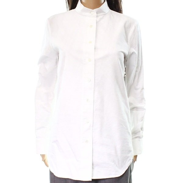 Shop Frame NEW White Solid Women\'s Size XS Mock-Neck Button Down ...