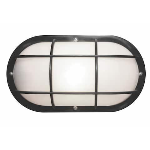Nautical 1-light Black LED Wall Mount