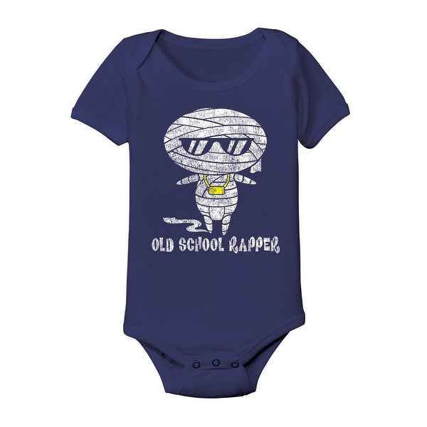 Navy Blue Old School Rapper Funny Mummy Baby Infant One Piece