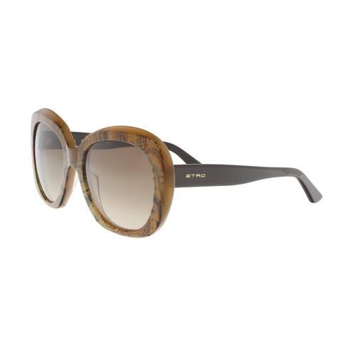 Etro ET33/S 211 Tan Round Sunglasses - 55-20-140