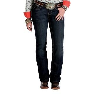Cruel Girl Western Denim Jeans Womens Abby Slim Tint Dk