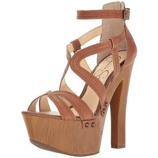Jessica Simpson Womens Dorrin Fabric Open Toe Special Occasion Platform Sandals