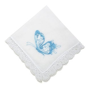 Fanciful Butterfly Handkerchief