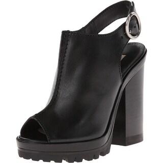 Michael Kors NEW Black Shoes Size 8.5M Slingbacks Leather Sandals