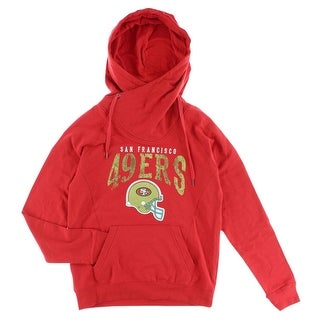 NFL Womens San Francisco 5th Pullover Hoodie Red - red/gold/white - M