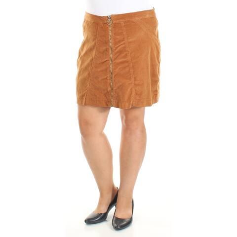 BUFFALO Womens Brown Above The Knee A-Line Skirt Size 33 Waist