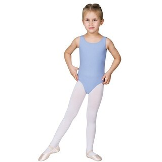 Sansha Girls Light Blue Scoop Neck Sleeveless Shanice Dance Leotard 8-18