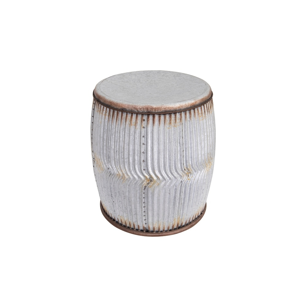 Round Metal Stool or Side Table