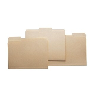 School Smart 1/5 Cut Manila File Folder, Legal, 14-3/4 x 9-1/2 Inches, 3/4 Inch Expansion, Pack of 100