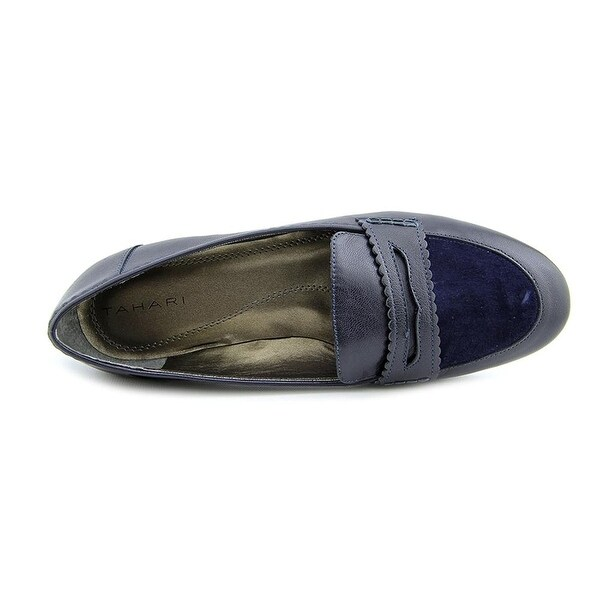 Tahari Womens TA-JADA Leather Closed Toe Loafers