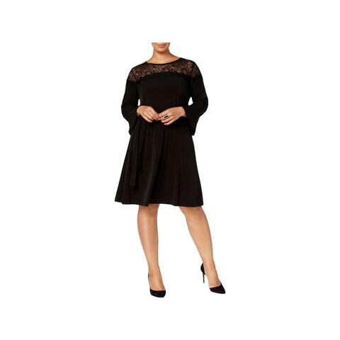 MICHAEL Michael Kors Womens Plus Cocktail Dress Party Lace