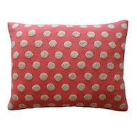 Vivai Home Pink Cotton Ball Rectangle 12x 20 Feather Throw Pillow