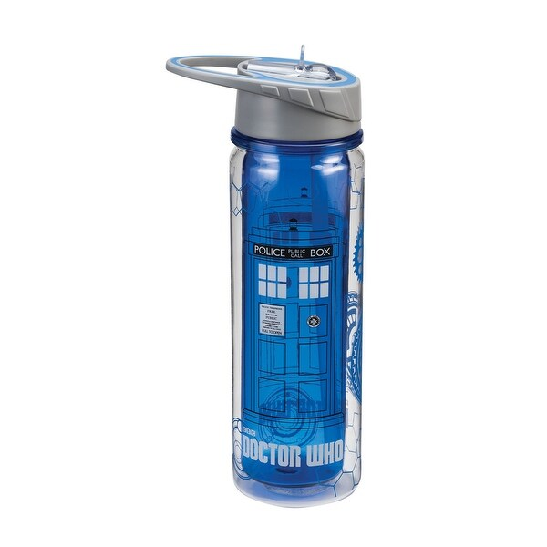 Dr. Who Tardis 18oz Tritan Water Bottle