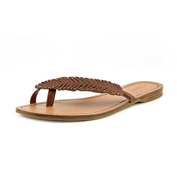 Coach Deni Open Toe Leather Thong Sandal