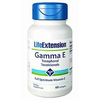 Life Extension Gamma E Tocopherol/ Tocotrienols Softgels, 60-Count
