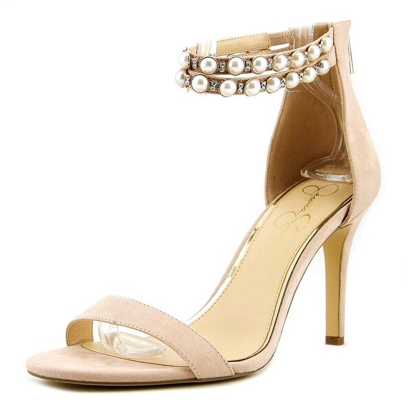 Jessica Simpson Jalinda 2 Women Open-Toe Canvas Pink Heels