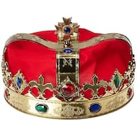 King Costume Crown Adult One Size - Red