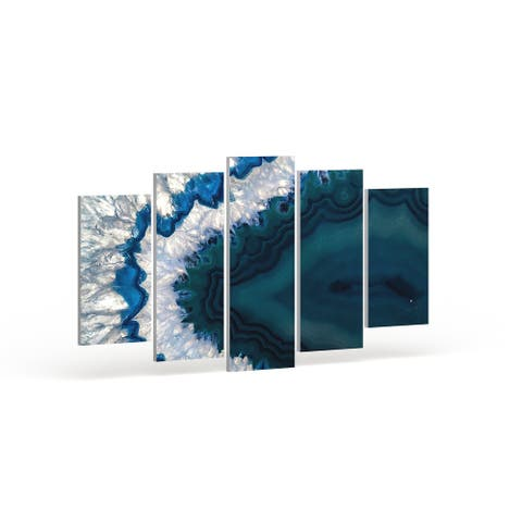 Strick & Bolton 'Blue Brazilian Geode' Abstract Canvas Wall Art Print