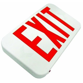 Howard HL0301B2RW LED Exit Sign, White & Red