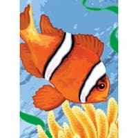"Clown Fish - Mini Paint By Number Kit 5""X7"""