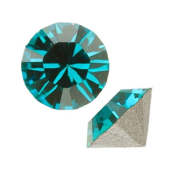 Swarovski Elements Crystal, 1088 Xirius Round Stone Chatons ss29, 12 Pieces, Blue Zircon
