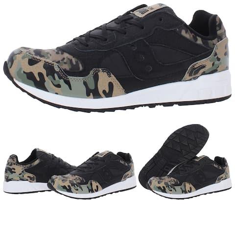 Saucony Boy's Shadow 5000 Lightweight Suede Retro Athletic Sneaker - Black/Camouflage