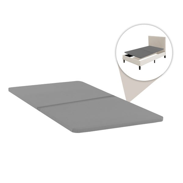 1.5-Inch Split Fully Assembled Bunkie Board For Mattress/Bed Support, Set Of 2 - Grey. Opens flyout.