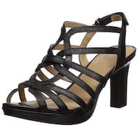 Naturalizer Womens Flora Leather Open Toe Casual Strappy Sandals