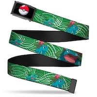 Poke Ball Fcg Chrome Bulbasaur Evolution Green Stripe Swirl Webbing Web Belt