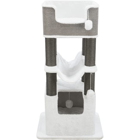 "TRIXIE Lucano Cat Tower Scratching Post Cream-Gray - Cream/Gray - 19"" x 23"" x 43.5"""
