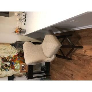 Madison Park Irvine Upholstered 27-inch Swivel Bar Stool