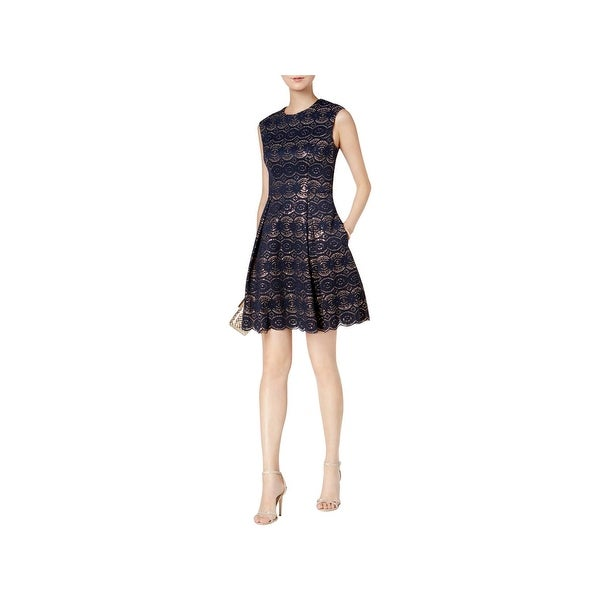 ee05310bd824 Shop Vince Camuto Womens Party Dress Lace Sequined - Free Shipping Today -  Overstock.com - 23402726