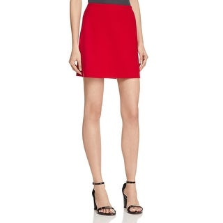Theory Womens Irenah Saxton A-Line Skirt Virgin Wool Above Knee