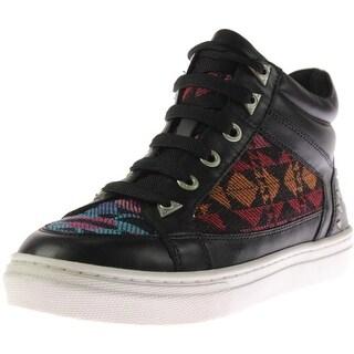 Bronx Womens Zoo Nee Leather Tribal Knit Fashion Sneakers