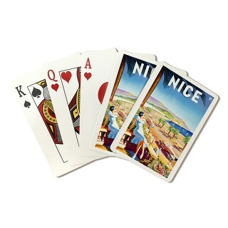Nice - PLM (D'Hey) France c. 1947 - Vintage Poster (Poker Playing Cards Deck)