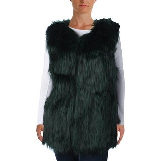 Jessica Simpson Womens Plus Andrea Faux Fur Casual Vest