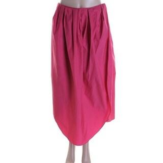 Isa Arfen Womens Pleated Skirt Plain Weave 3/4 Length