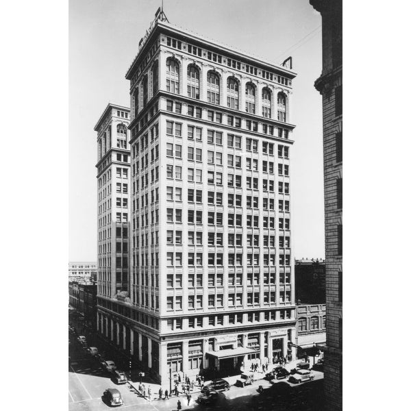 Spokane Wa View Of Old National Bank Building Photograph Art Print Multiple Sizes Available 9 X 12 Free Shipping On Orders Over 45