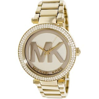 Michael Kors Women's Parker MK5784 Gold Stainless-Steel Fashion Watch|https://ak1.ostkcdn.com/images/products/is/images/direct/beef675e001462a0e32f6c1fbefb8249bce8eaa0/Michael-Kors-Women%27s-Parker-MK5784-Gold-Stainless-Steel-Fashion-Watch.jpg?impolicy=medium