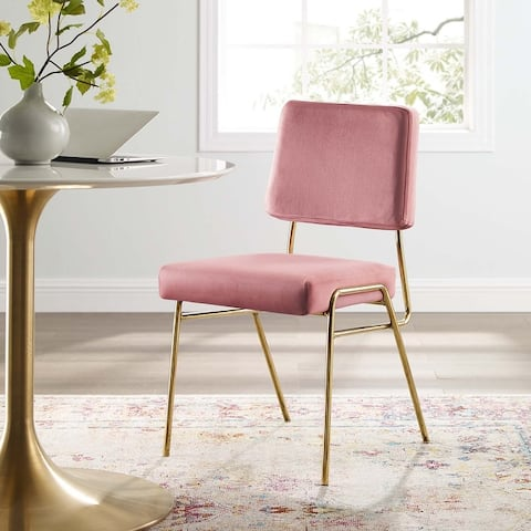 Silver Orchid Lerch Velvet Dining Side Chairs