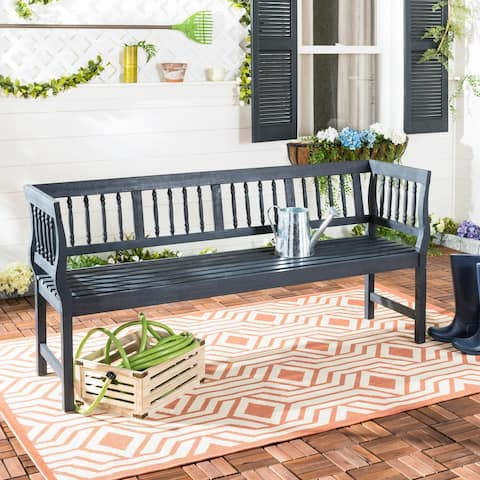 "Safavieh Brentwood Dark Slate Grey Bench - 68.1"" x 20.1"" x 31.5"""